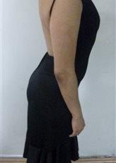 vestido negro de fiesta usado en perfecto estado