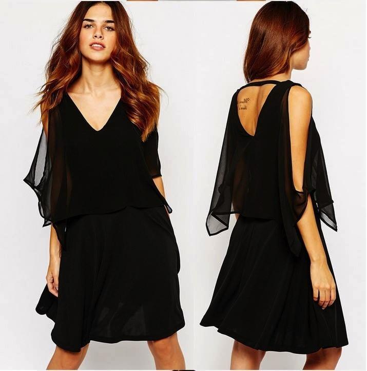 Vestido negro para mujer