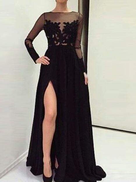 Vestidos en negro de noche
