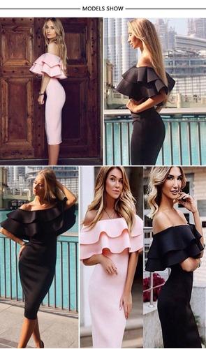 vestido, negro, elegante, bonito, casual envio gratis