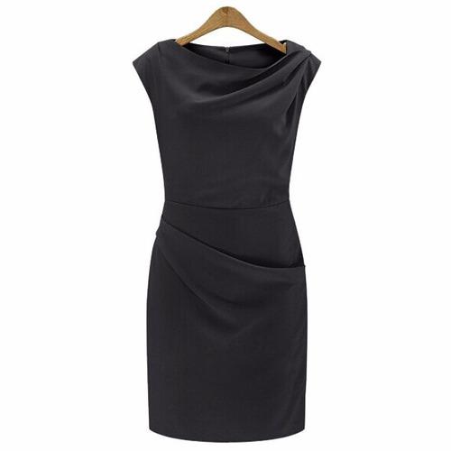 vestido negro, elegante, clásico
