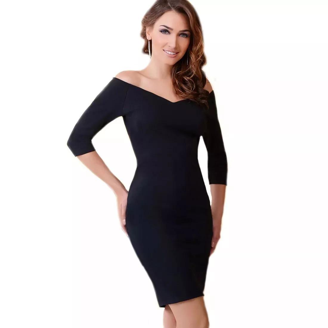 Como es un vestido negro formal