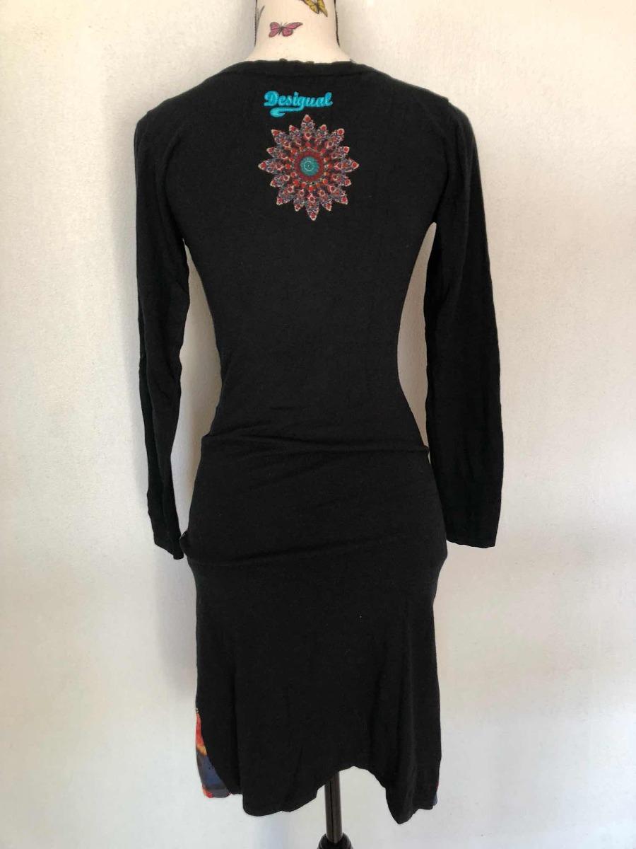 d143e6d632 Vestido Negro Flores Desigual M s Estampado Con Envío -   48.000 en ...