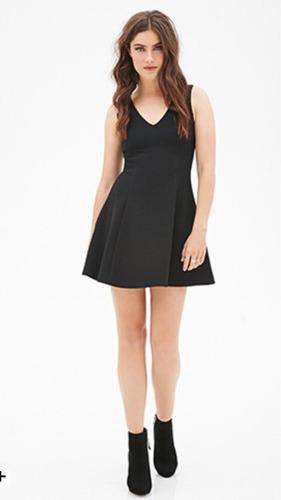 vestido negro forever21