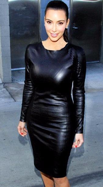 492b0fc2d89c Vestido Negro Imitación Piel Wet Look Vinyl Talla Mediana Se