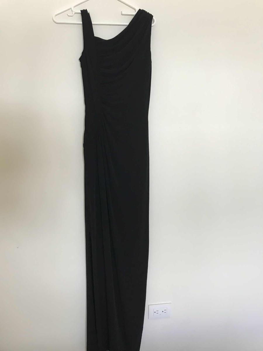 034596b7b1 vestido negro largo calvin klein. Cargando zoom.