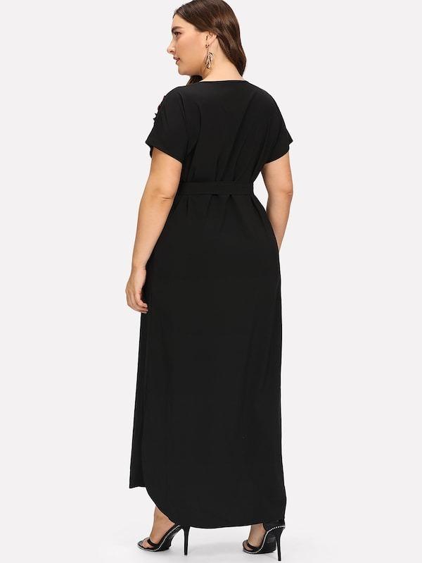 Vestido negro largo tallas grandes