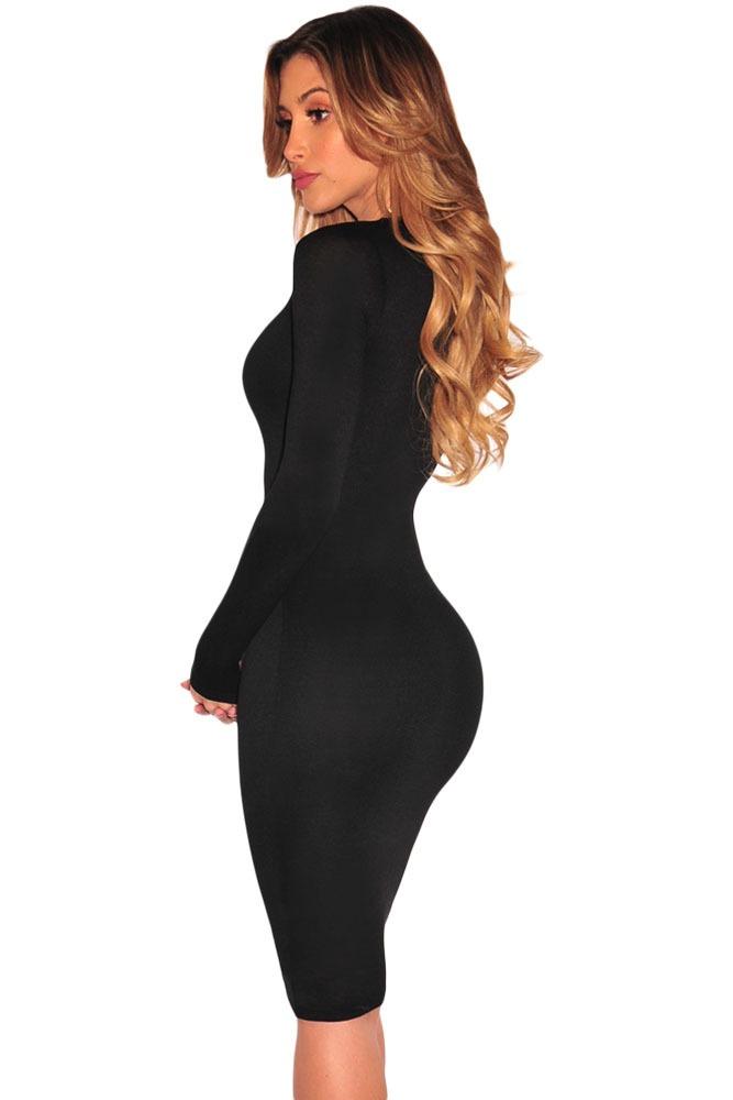 Vestidos negro manga larga