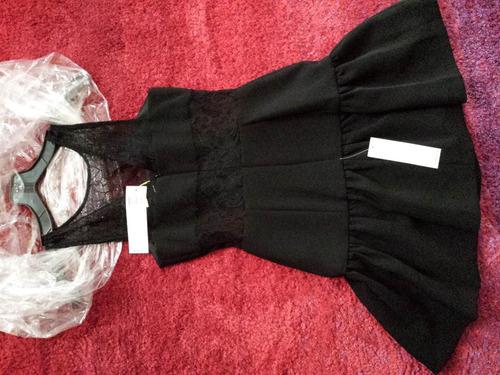 vestido negro marca bcbgeneration   seamed panel