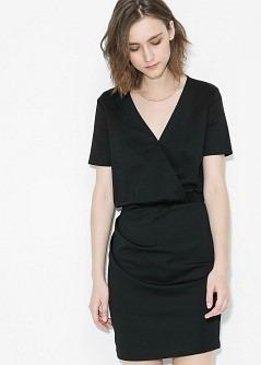 Vestido negro marca mango