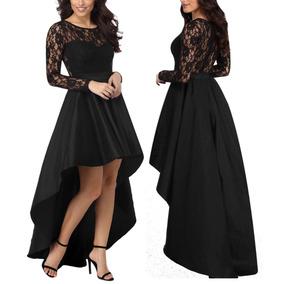 Vestidos De Encaje Largos Negro Noche Michoacan Vestidos