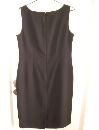 vestido negro semientallado elegante sport impecable