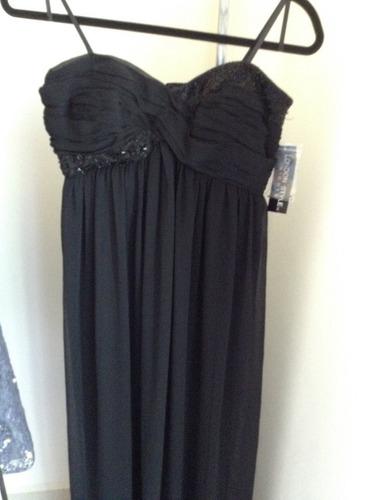 vestido negro strapless london style nights