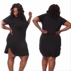 3d81acd8c3 Vestido Negro Talla Extra Blusa Larga Vestidos Casuales Moda