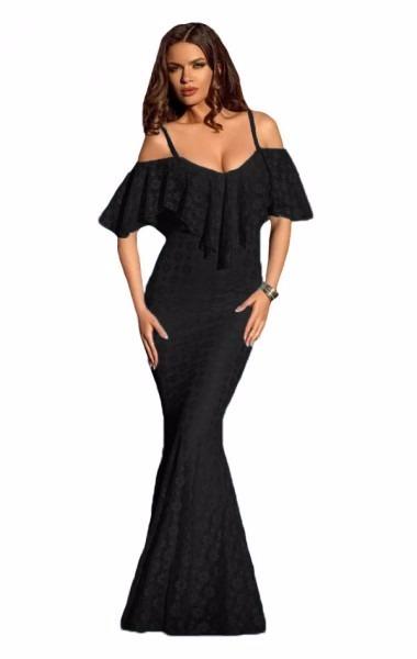 Vestido negro con tirantes