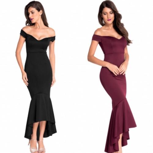 vestido negro vino fiesta tallas extras fiesta corto largo