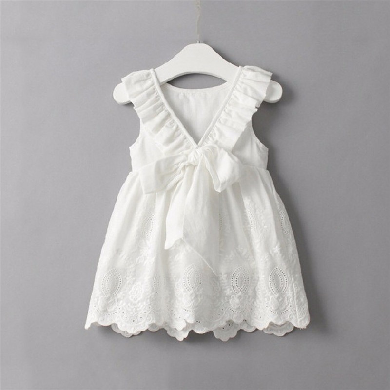 Vestido Nena Blanco Escote V Espalda Fresco Oferta Verano! - $ 799 ...