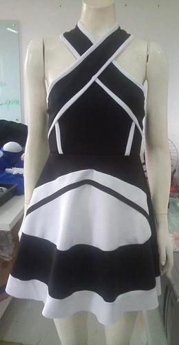 vestido neoprene rodado