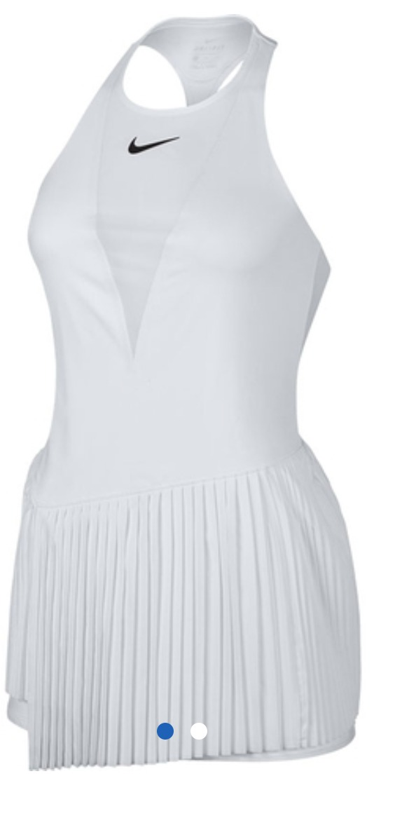 ae7216d8fb8 vestido nike branco tennis. Carregando zoom.