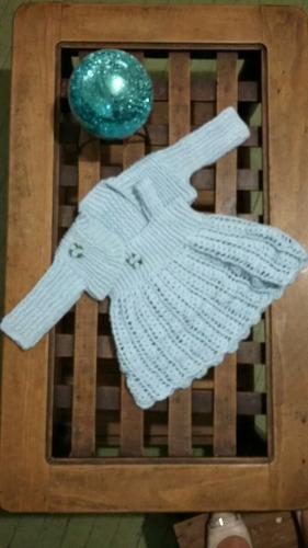 vestido niña 1 año con torera tejido crochet