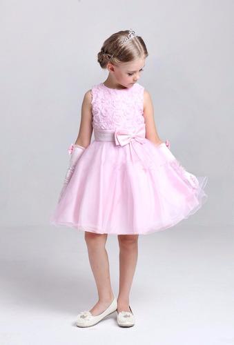 vestido niña bautizo fiesta damita blanco princesa bebe ropa