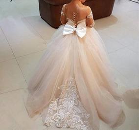 Vestido Niña Bautizo Presentación Elegante Paje Fiesta Novia