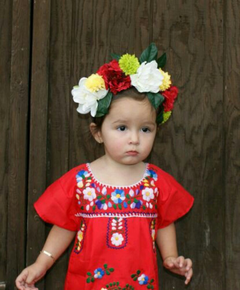 Vestido Niña Bebé Artesanal Bordado Mexicano Chiapas