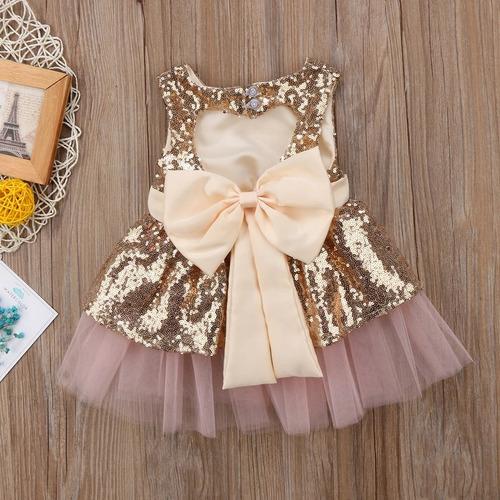 vestido niña bebe lentejuela fiesta envio gratis