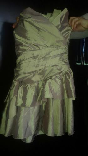 vestido niña beige dorado tornasol