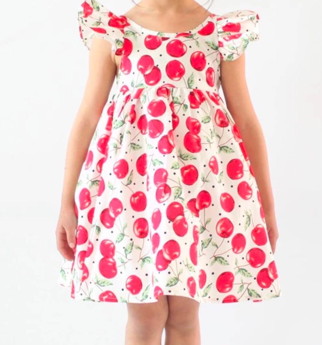 Vestido Niña Cerezas - $ 50.000 en Mercado Libre
