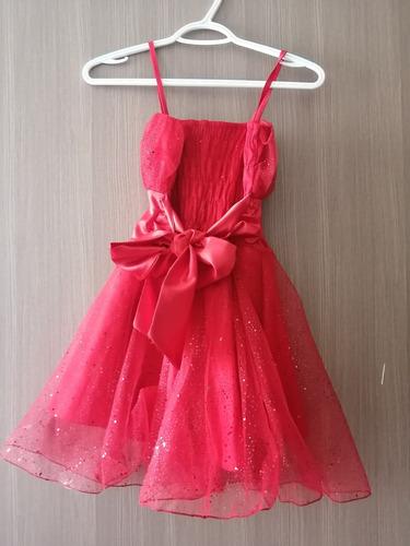 vestido niña color rojo talla 6 *venta de garage*