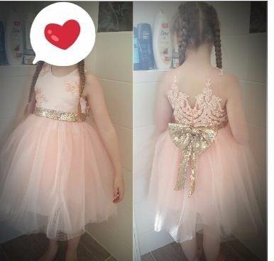 Vestido fiesta nina coral