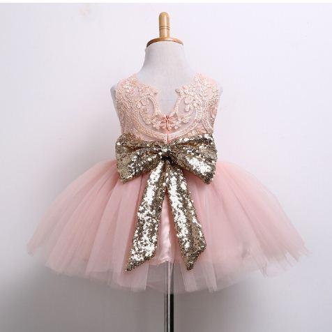 vestido niña coral fiesta elegante princesa tutú lollipop