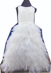 b6284be50 Falda Larga Muy Sexi Con - Vestidos Blanco en Mercado Libre México