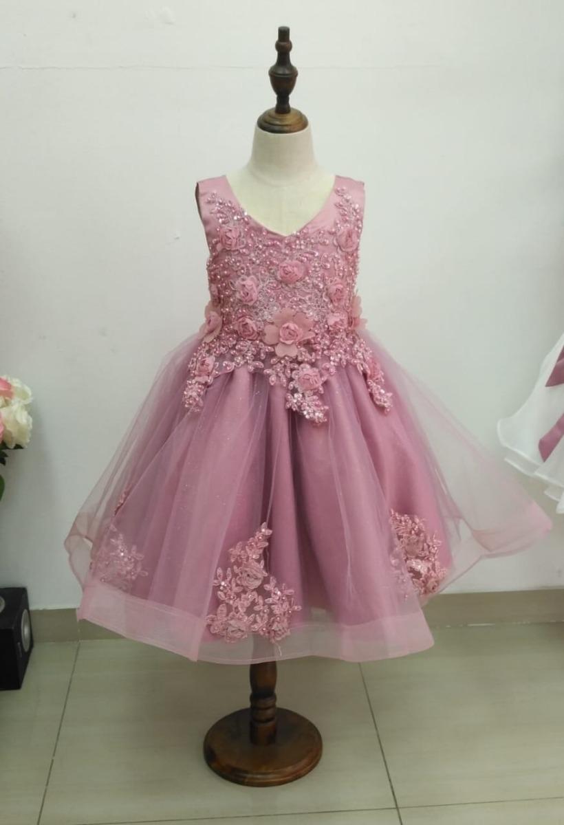 ed3246ba3fc Vestido Niña Elegante Fiesta Pajecitas -   125.000 en Mercado Libre