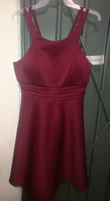 Vestido Nina Ferre Corto Vino Mod 5300