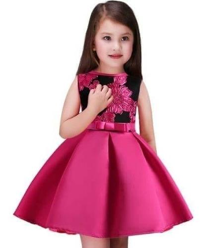 vestido niña fiesta bordado etc. talla 6-10