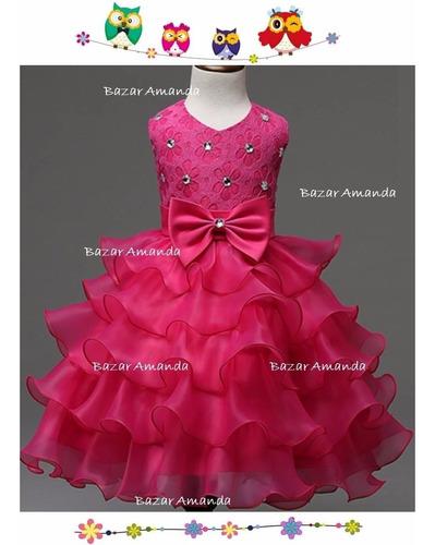 vestido niña fiesta cumpleaños paje - bazar amanda
