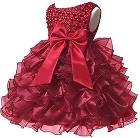 Vestido Niña Fiesta Graduación Boda Xv Cumpleaños Vino