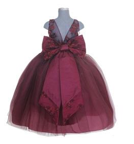 Vestidos De Presentacion Para Ninas Ropa Para Bebés Bordó
