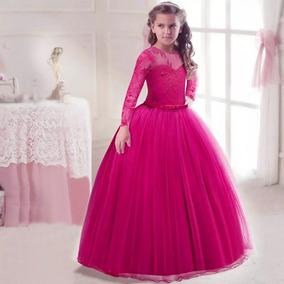 af2233eb6f Vestido Rosa Fiusha Largo Con Piedras - Vestidos en Mercado Libre México