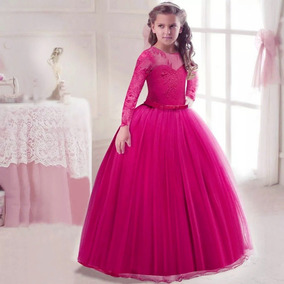 Vestido Niña Fiesta Paje Rosa Fiushatul