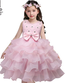 Vestido Niña Fiesta Princesa Elegante Pajecita Bautizo Boda