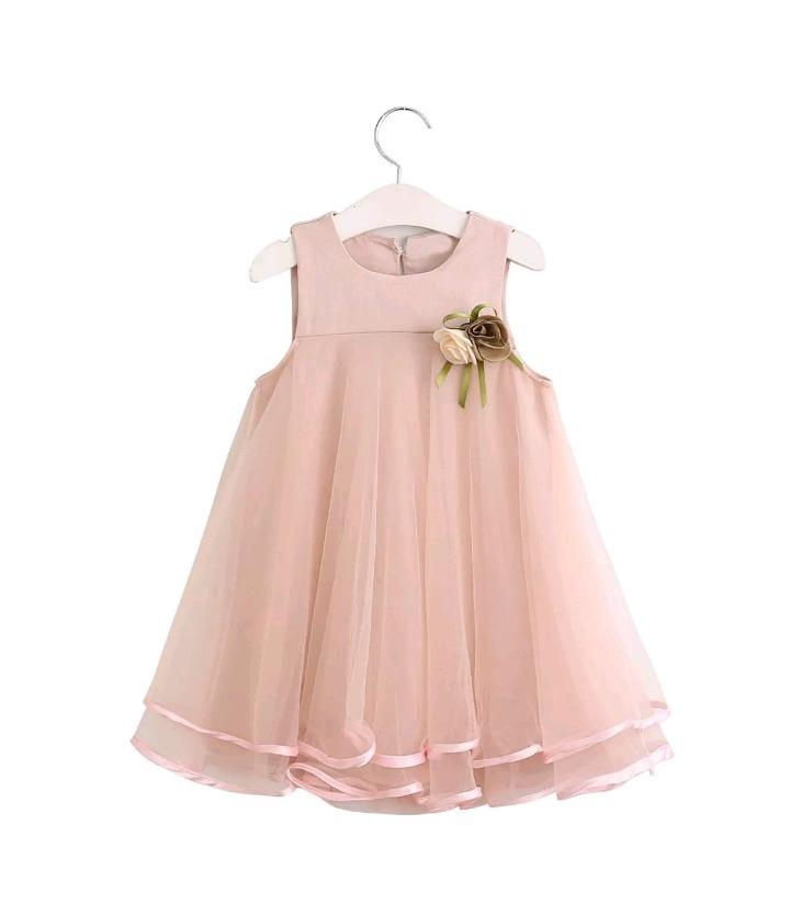 Vestido Niña Fiesta Rosa Tul Perlas Encaje Talle 2-3 Nuevo - $ 900 ...