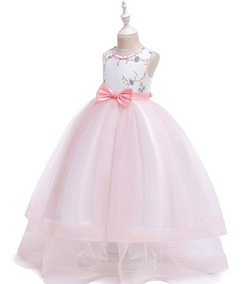 Vestido Niña Fiestagala Cumpleañostul Rosa Pastel