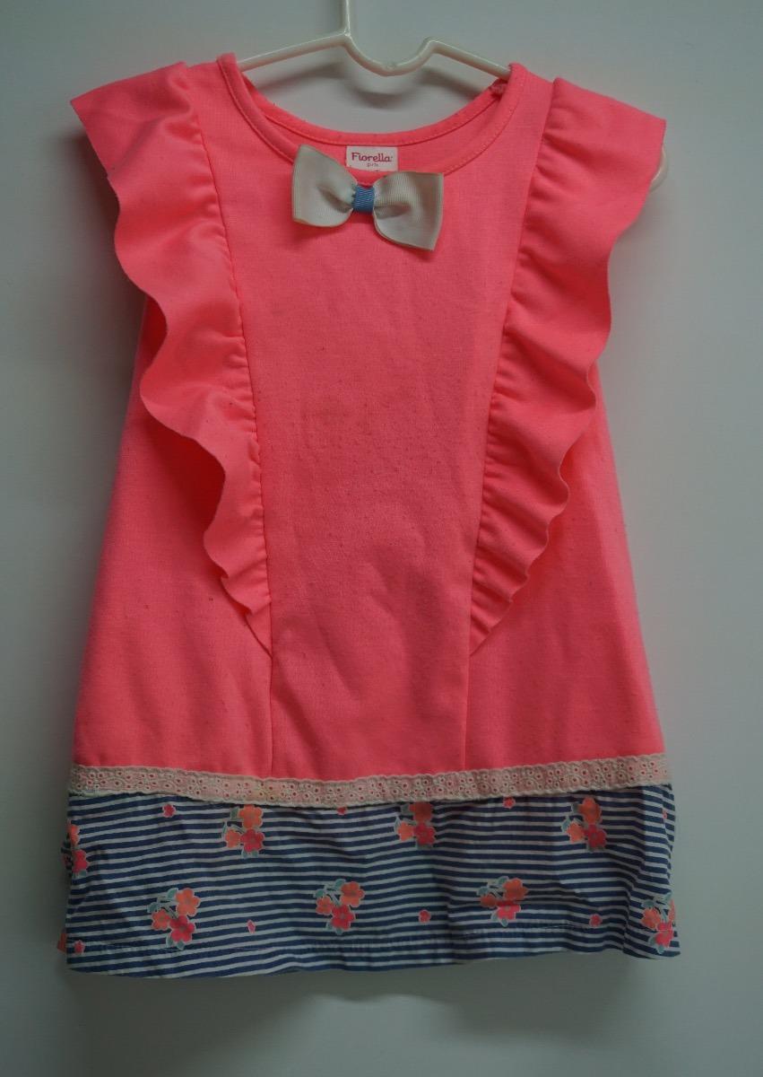 últimas tendencias de 2019 mejor calidad comprar Vestido Niña Fiorella Talla 3-4 Años Rosa/azul Moda Infantil - $ 259.00