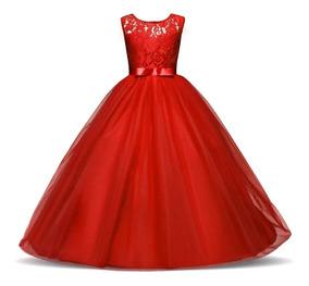 Vestido Niña Gala Paje Matrimonio Bautizo Fiesta