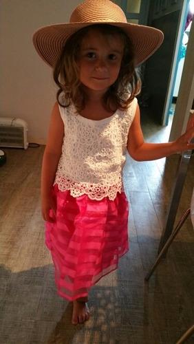 vestido niña infantil 5-6 años para fiesta