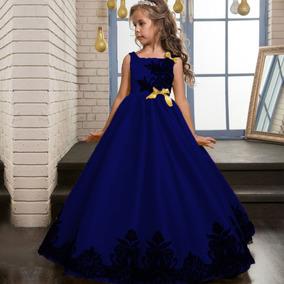 revisa a7933 cdef9 Vestido Niña Largo Fashion Princesa Fiesta Flower Disponible