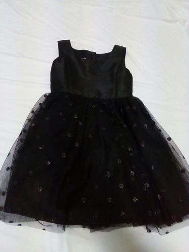 vestido niña negro tul zunie. la segunda bazar